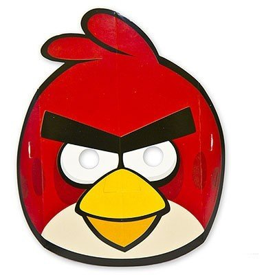 Маски Angry Birds бумажные, 8 штук