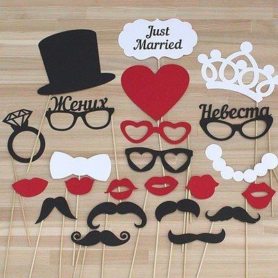 Набор фотобутафории свадьба JUST MARRIED