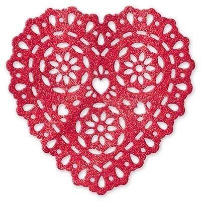 Баннер блестящий Сердце-кружево