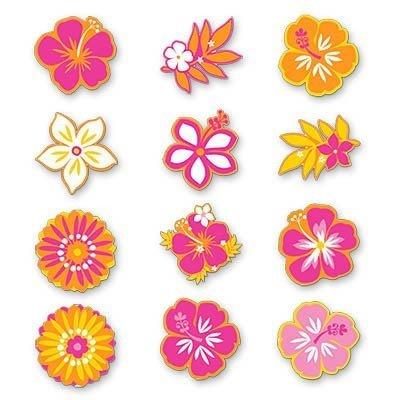 Баннер-комплект Гаваи Цветы ассорти 12шт