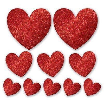Баннер-комплект Сердце блеск 10 штук