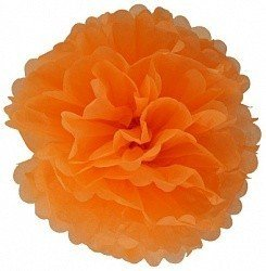 Помпон Оранжевый 30 см