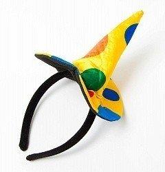Ободок Желтая шляпка в горох конус
