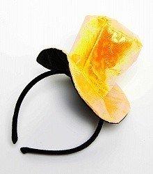 Ободок Желтая шляпка блестящая