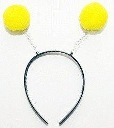Ободок Желтые шары на пружинке