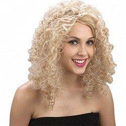 Парик Блондинка, кудрявые волосы