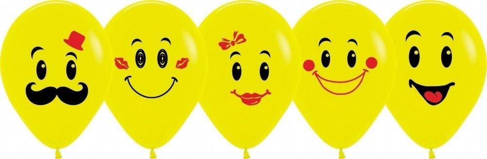 Облако шариков Смайлы с рожицами 50