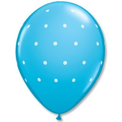 Облако шаров Горошек мелкий голубой 25 шт
