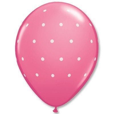 Облако шаров Горошек мелкий розовый 25 шт