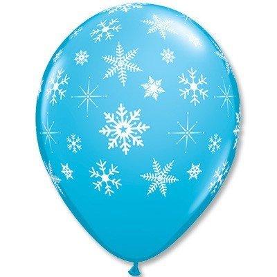 Облако шаров Снежинки RobEggBlue 100 шт