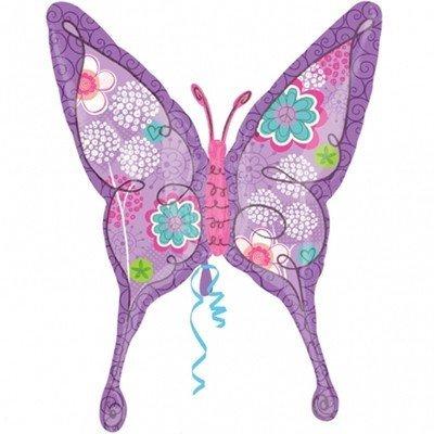 Шар фигура Бабочка лиловая
