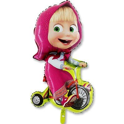 Шар фигура Маша на велосипеде