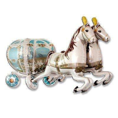 Шар фигура Карета свадебная с лошадьми