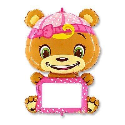 Шар B-PAD с маркером Мишка в розовом