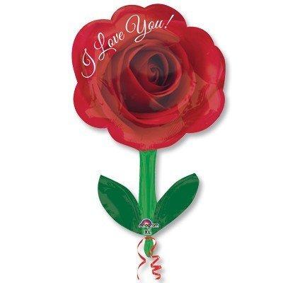 Шар фигура ILY Роза со стеблем