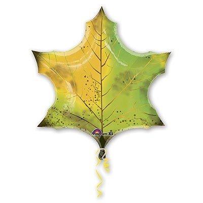 Шар фигура Лист Кленовый зеленый