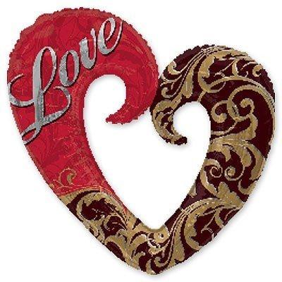 Шар-фигура ILY Сердце Дамасское