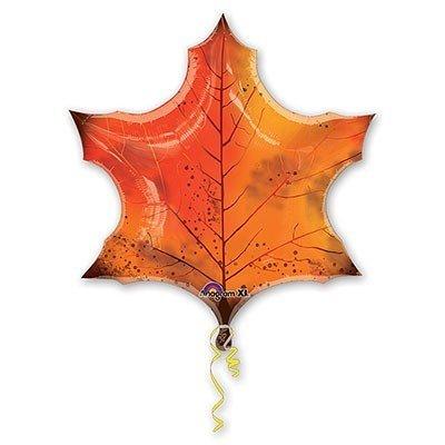 Шар-фигура Лист кленовый оранжевый