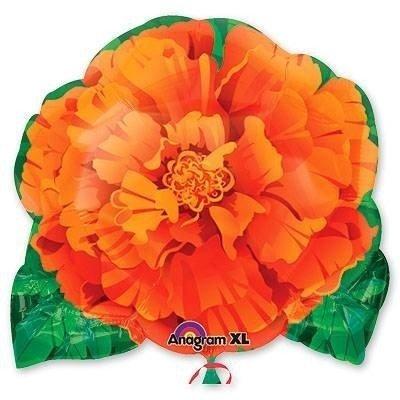 Шар фигура Цветок оранжевый