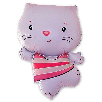 Шар фигура Котенок розовый