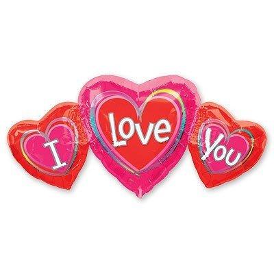 Шар фигура ILY Три сердца