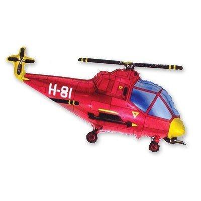 Шар фигура Вертолет красный
