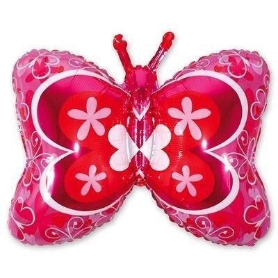 Шар фигура Бабочка розовая