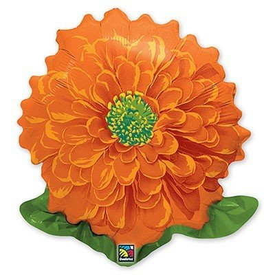 Шар фигура Циния Оранжевая