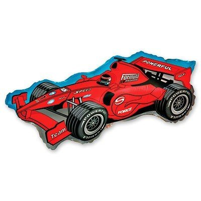 Шар фигура Машина гоночная красная