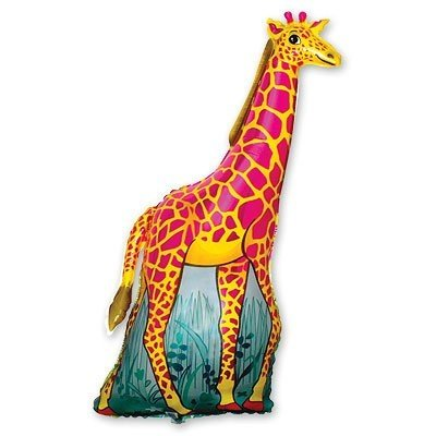 Шар фигура Жираф оранжевый
