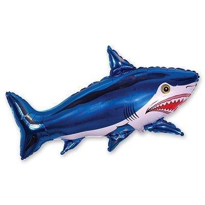 Шар фигура Акула большая синяя