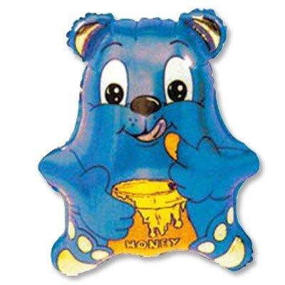 Шар фигура Медвежонок синий