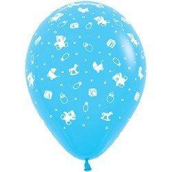 Облако шаров С рождением мальчика! 25 шт