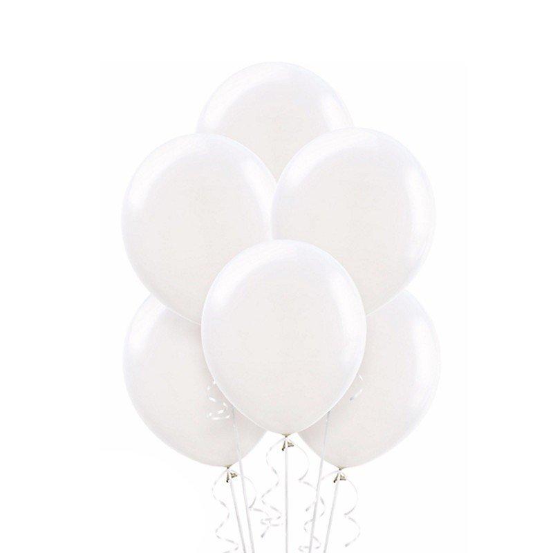 Облако белых шариков Премиум  50 шт