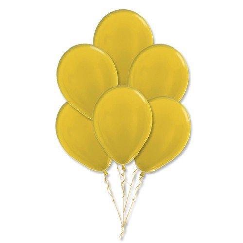 Облако желтых шаров металлик 25 шт