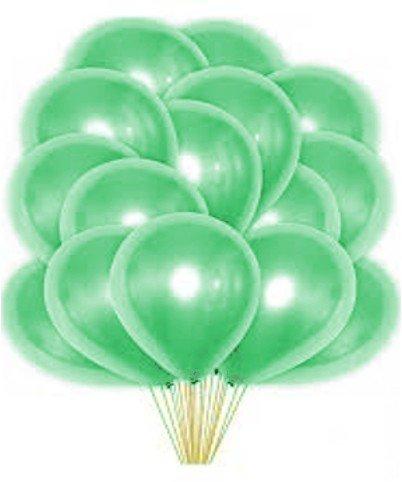 Облако зеленых перламутровых шаров 25 шт