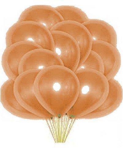 Облако персиковых перламутровых шаров 25 шт