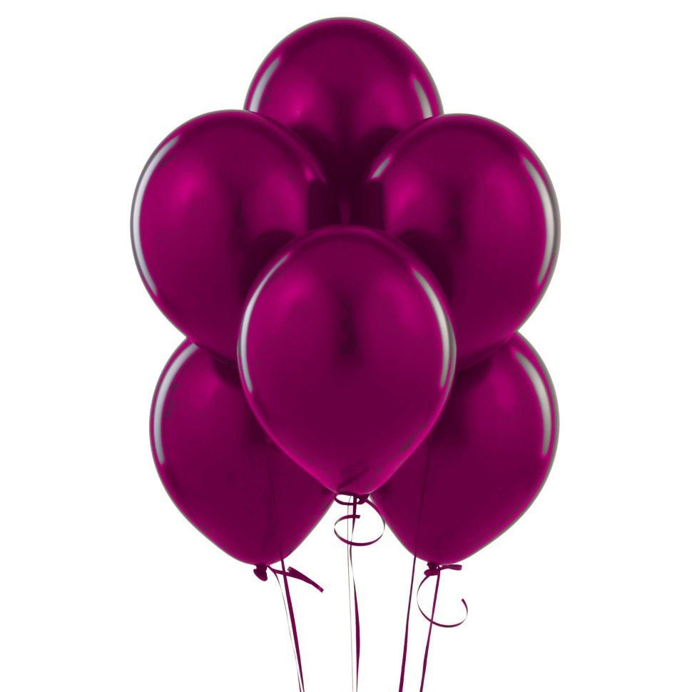 Облако розовых шаров металлик 25 шт