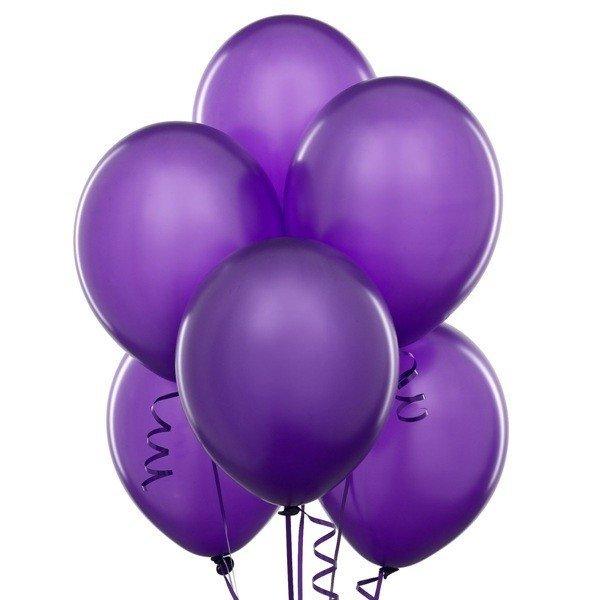 Облако фиолетовых шаров 25 шт