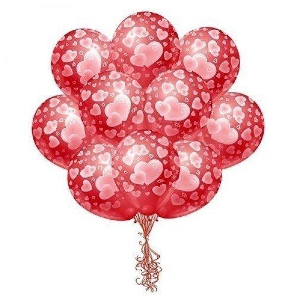 Облако шаров для влюбленных 25 шт