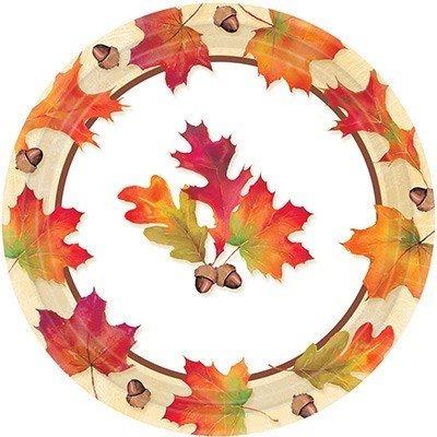 Тарелки малые Осенние листья 8 штук