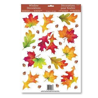 Наклейка на окно Осенние листья