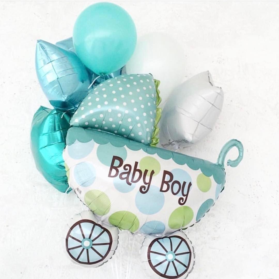 Букет шаров на выписку малыша