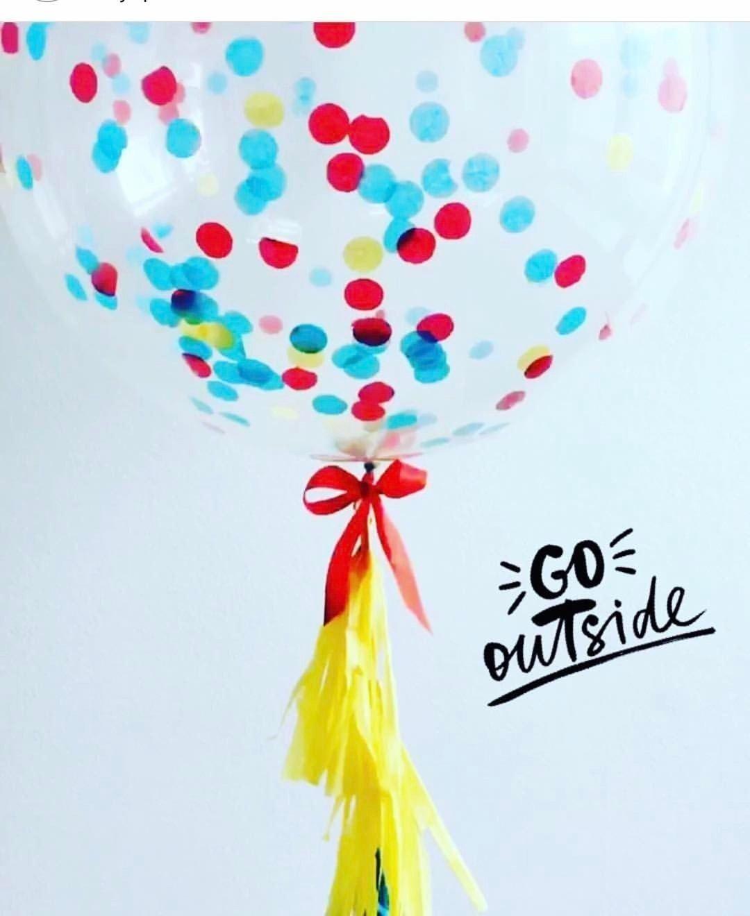 Большой шар с конфетти Будь Ярким