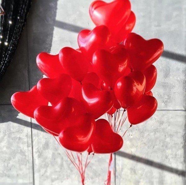 Букет из шаров Пламенное Сердце 50 шт