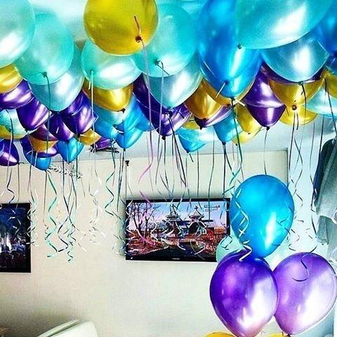Шарики под потолок Лазурный берег 100 шт