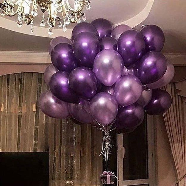 Облако шаров Пурпурно-фиолетовая гроздь 100 шт