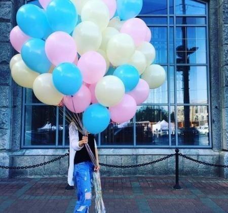 Облако шаров Пастельные краски 25 шт