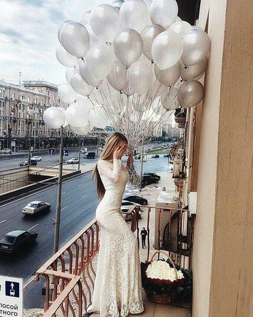 Облако шаров Серебряный жемчуг 25 шт