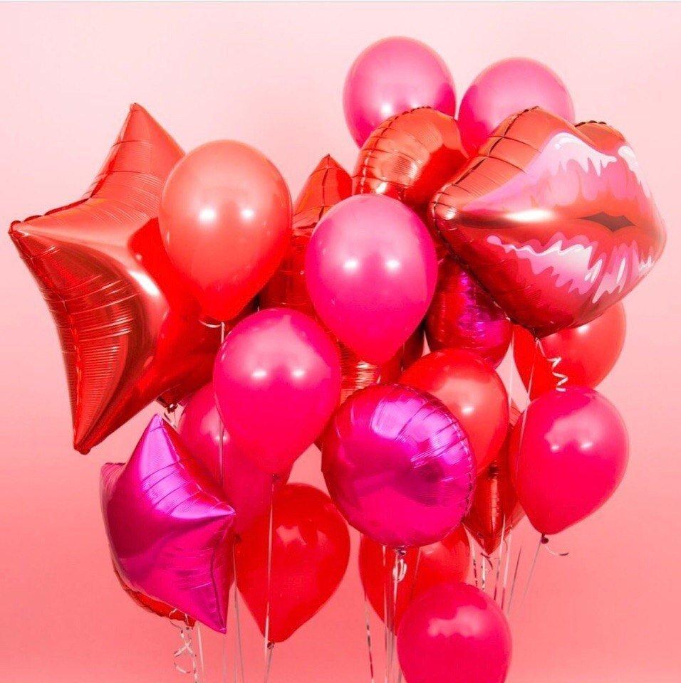 Букет из шаров  Страстный поцелуй